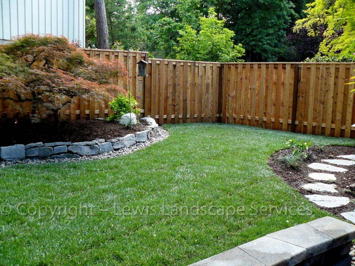 2013 - New Sod Lawn, Rock Walls, Planting