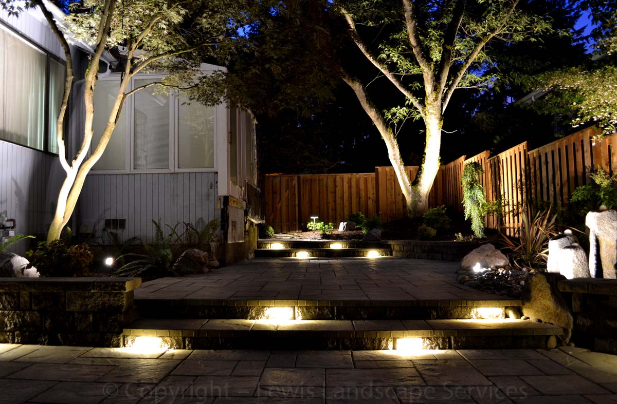 2013 - Back Yard with Night Lighting