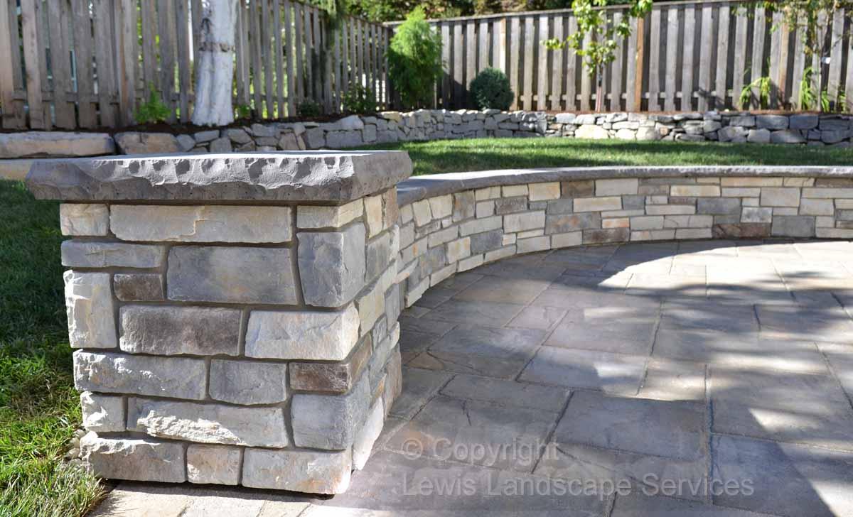 Seat Walls & Columns, Paver Patio, Rock Walls