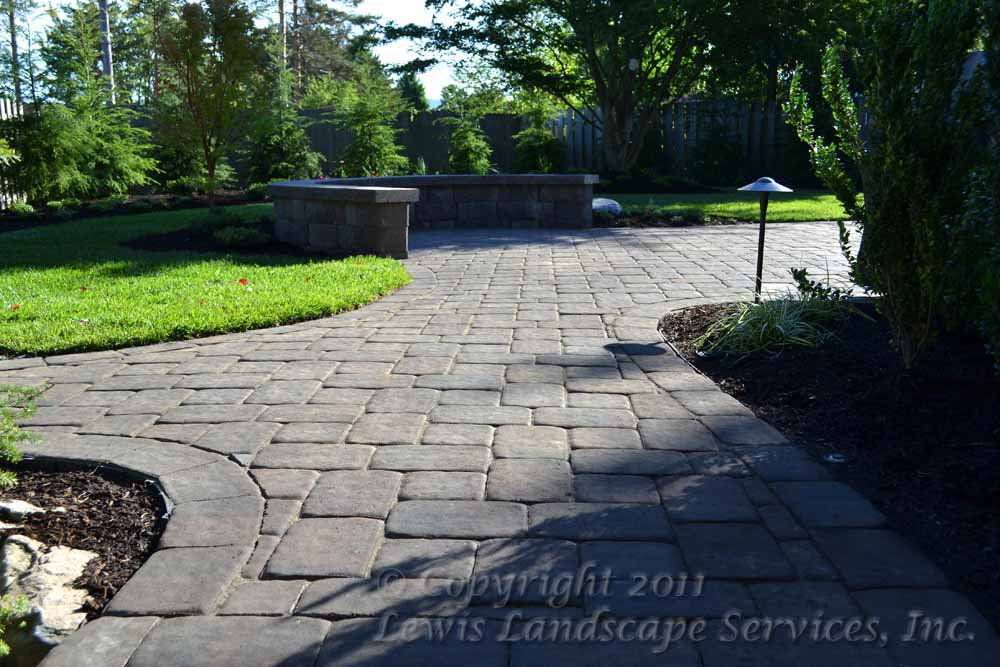 Paver Pathways, Sod Lawn