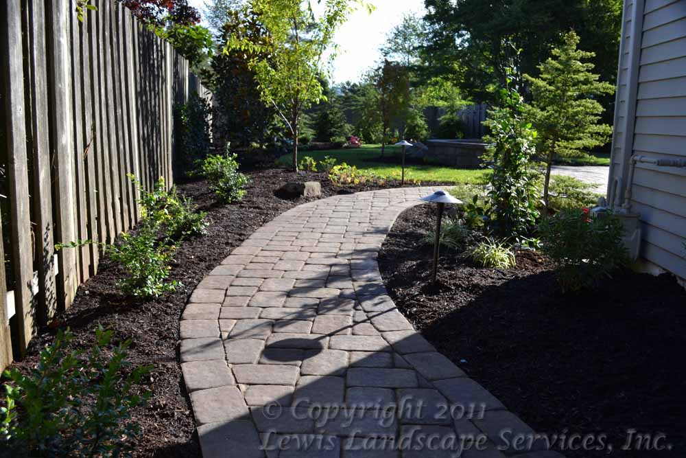 Paver Pathway, Plantings