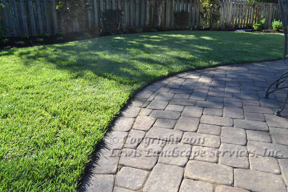 Paver Pathway, New Sod Lawn