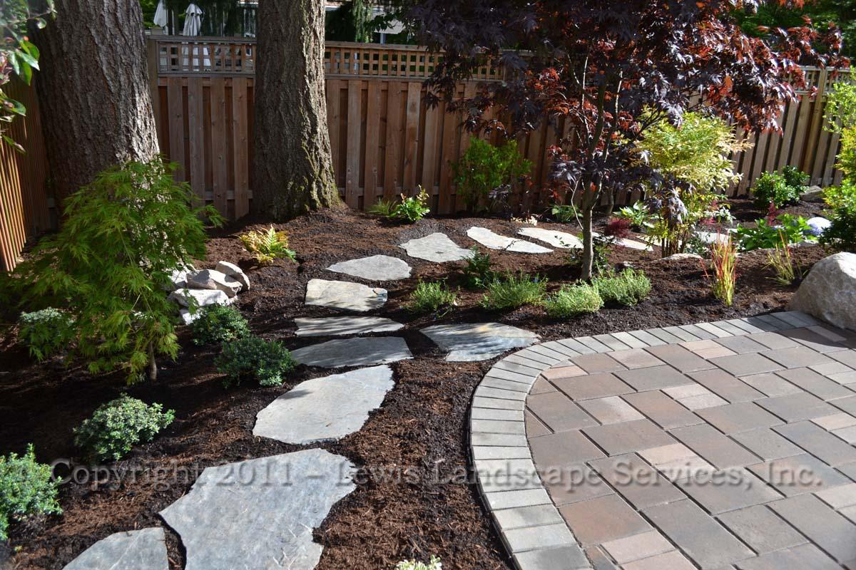 Flagstone Steps Through Landscape