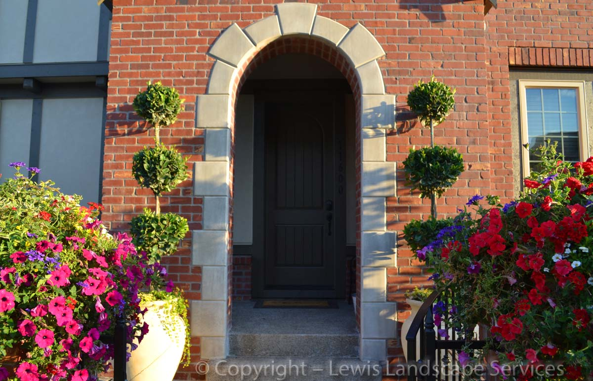 New Plantings & Decorative Pots at Front Entrance