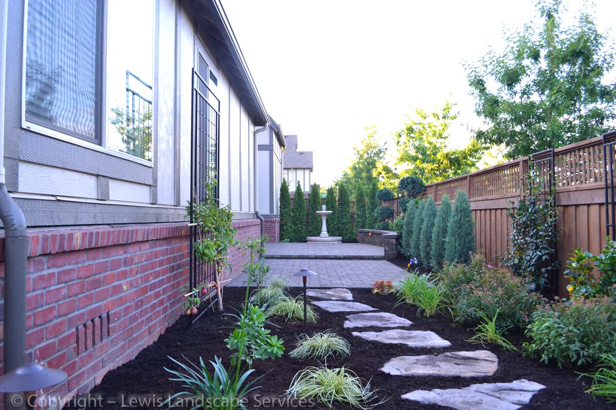 Flagstone Steps, New Plants & Trees