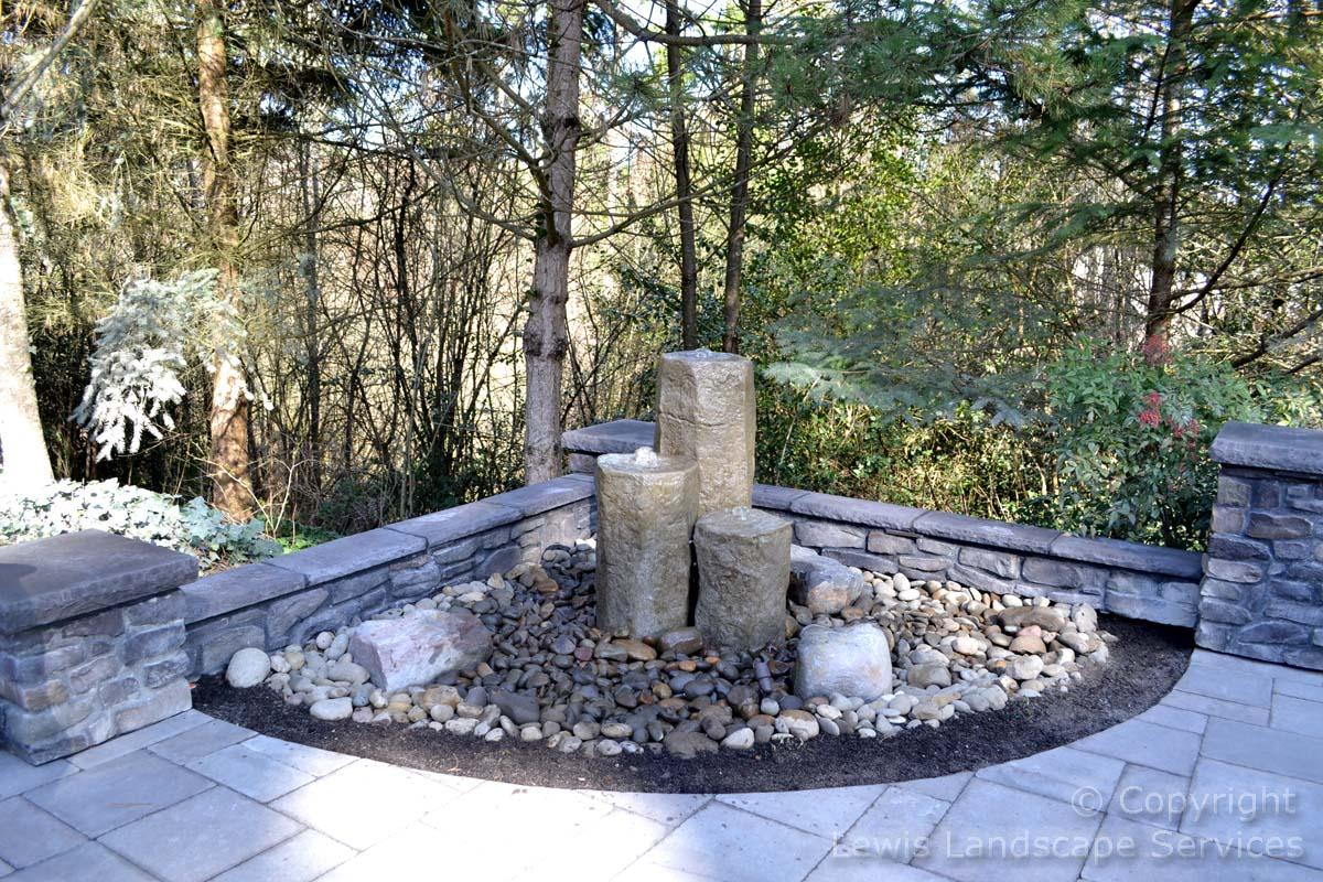 3-Rock Bubbler Fountain
