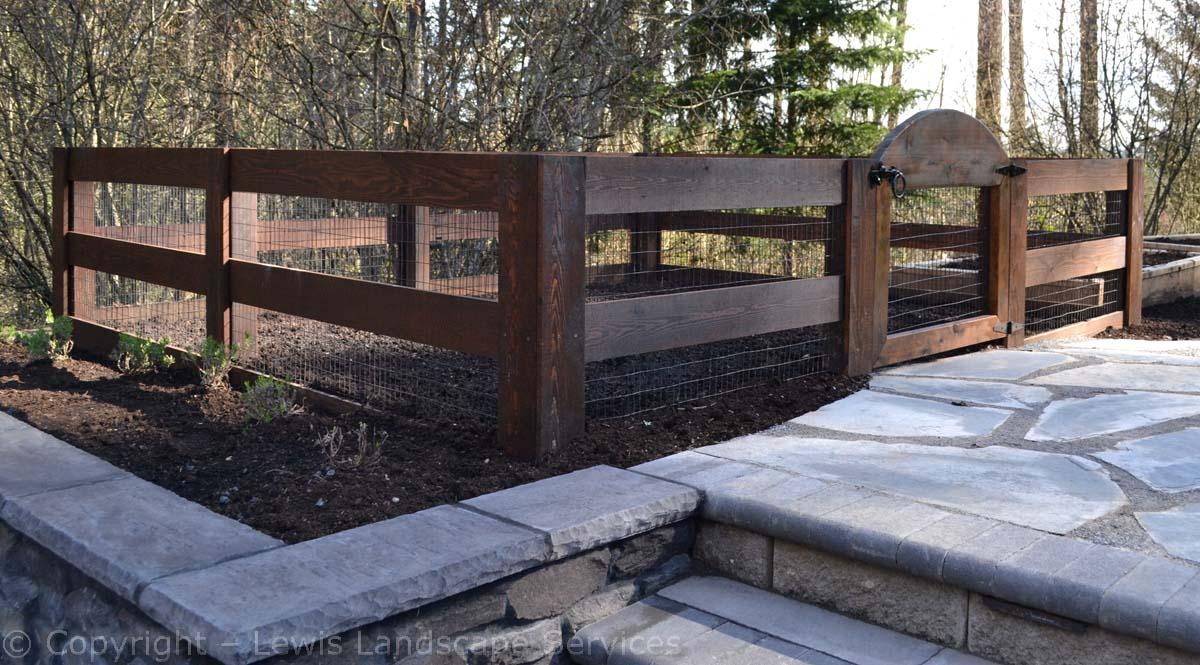 Garden with Rabit-Proof Fencing