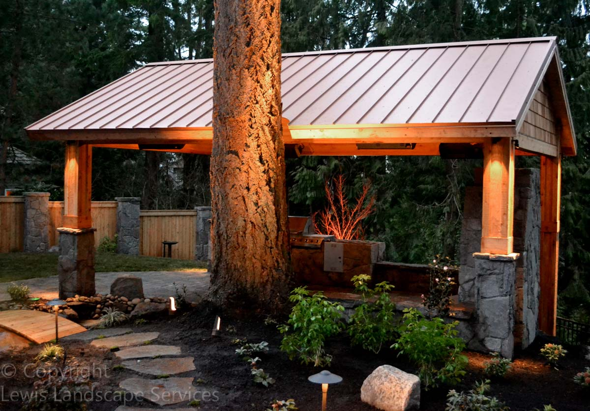 Copper Roof on Covered Structure