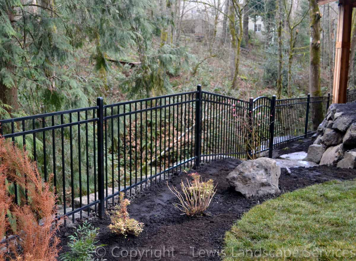 Iron Fence to Greenspace