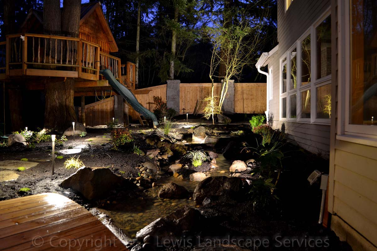 Streambed & Lighting at Night