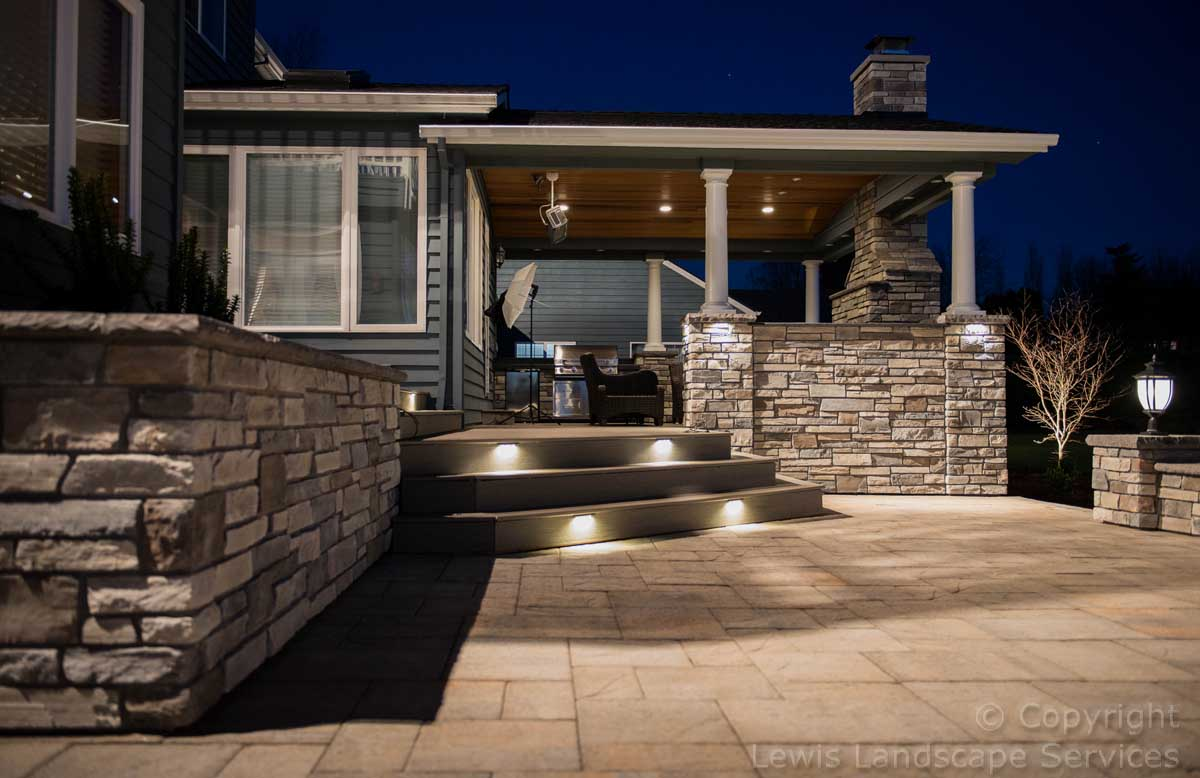 Patio, Deck, Lighting, Covered Structure