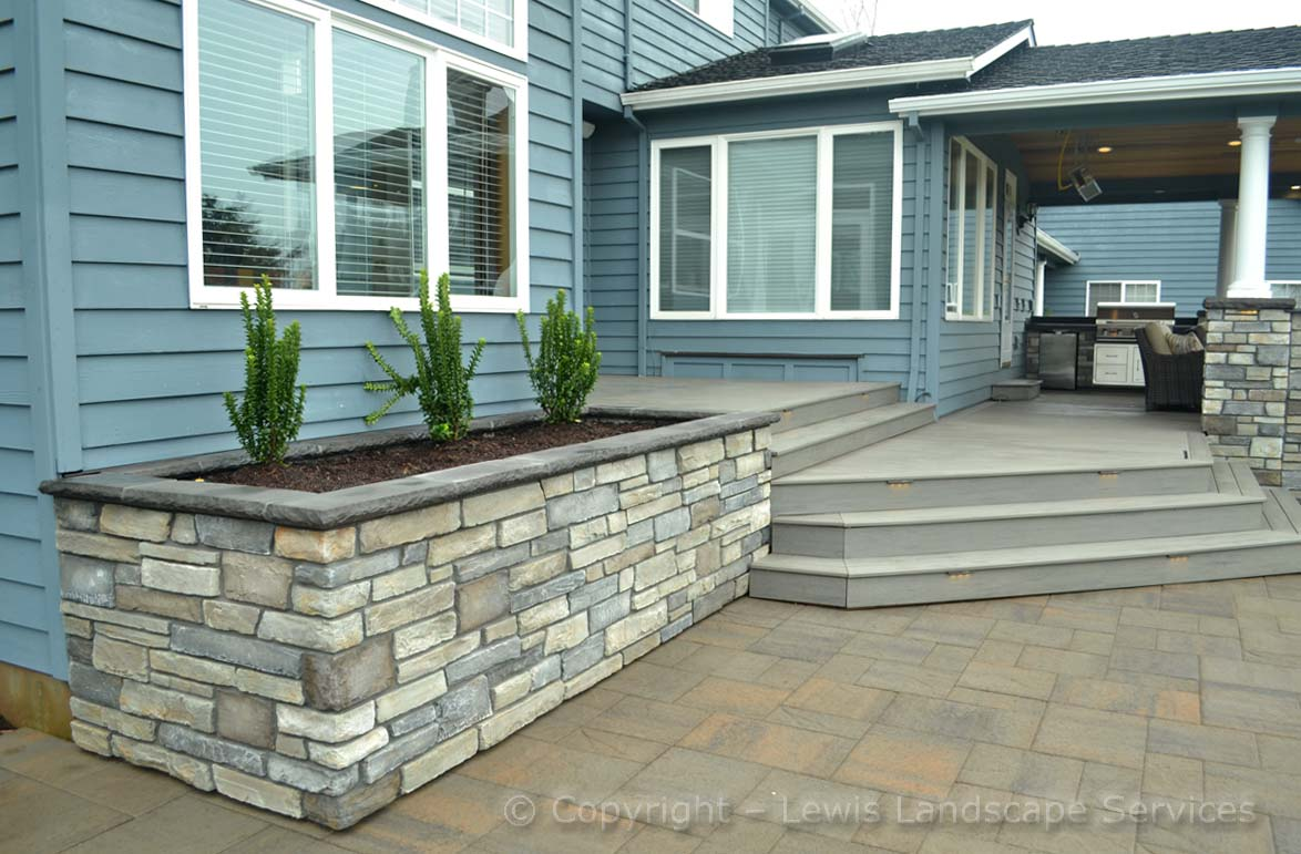 Raised Bed (Stone) & Deck Steps