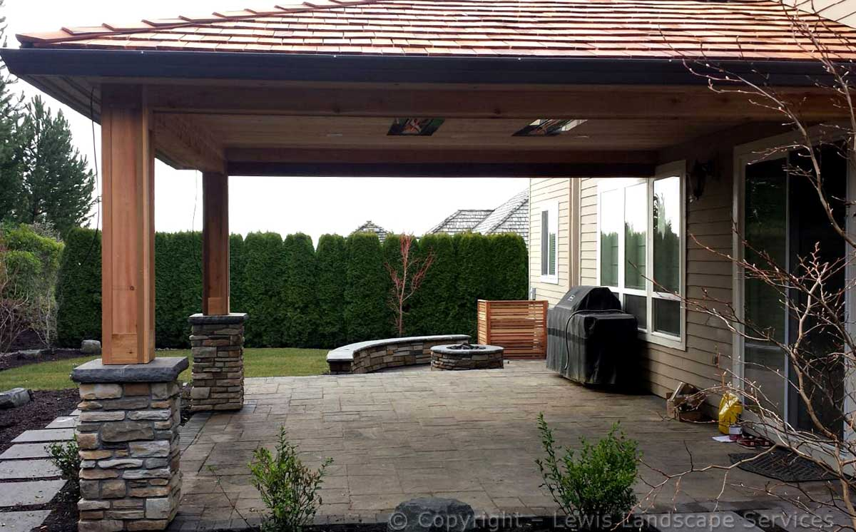 Overall of Covered Structure, Stone, Patio