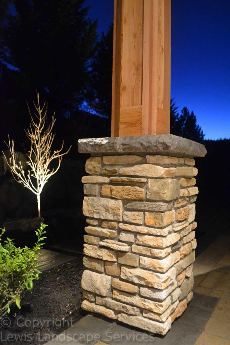 Stone Columns, Outdoor Lighting