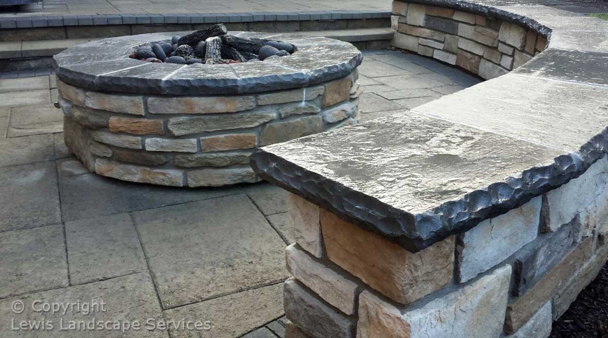 Fire Pit, Seat Wall