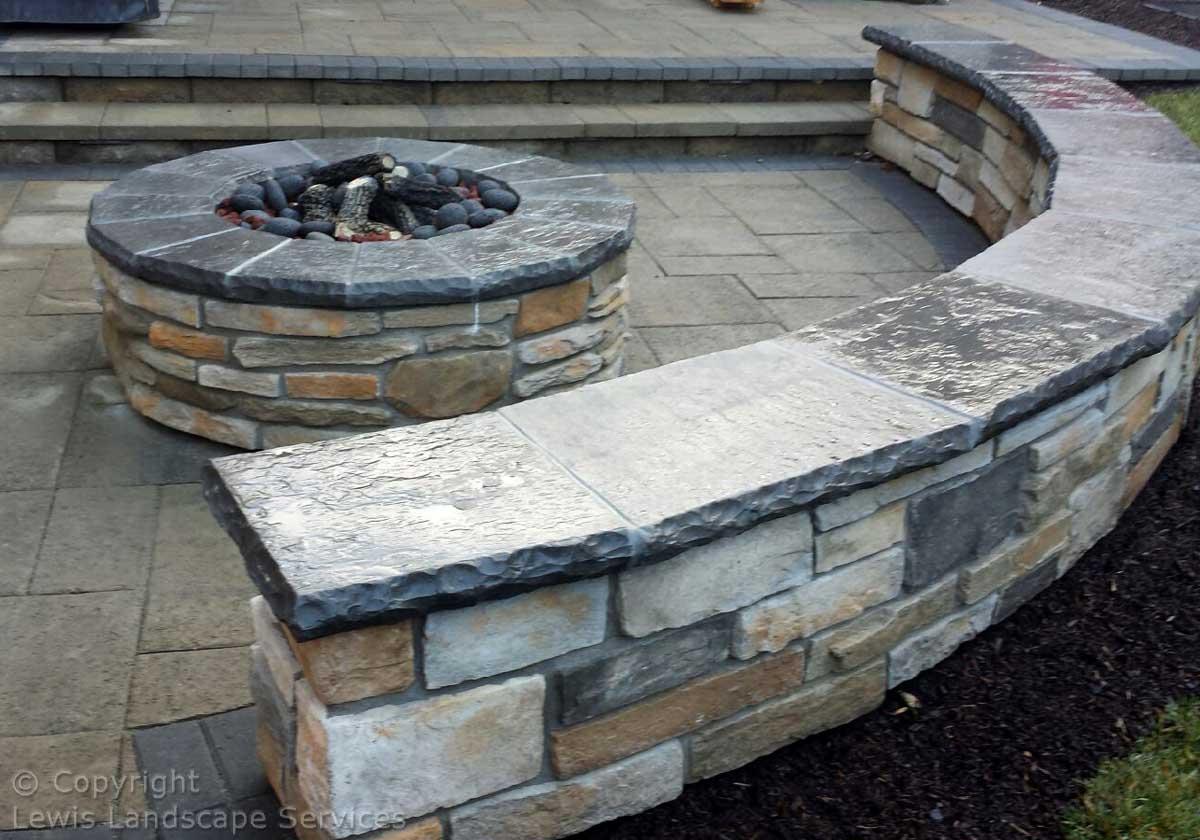 Fire Pit, Seat Wall