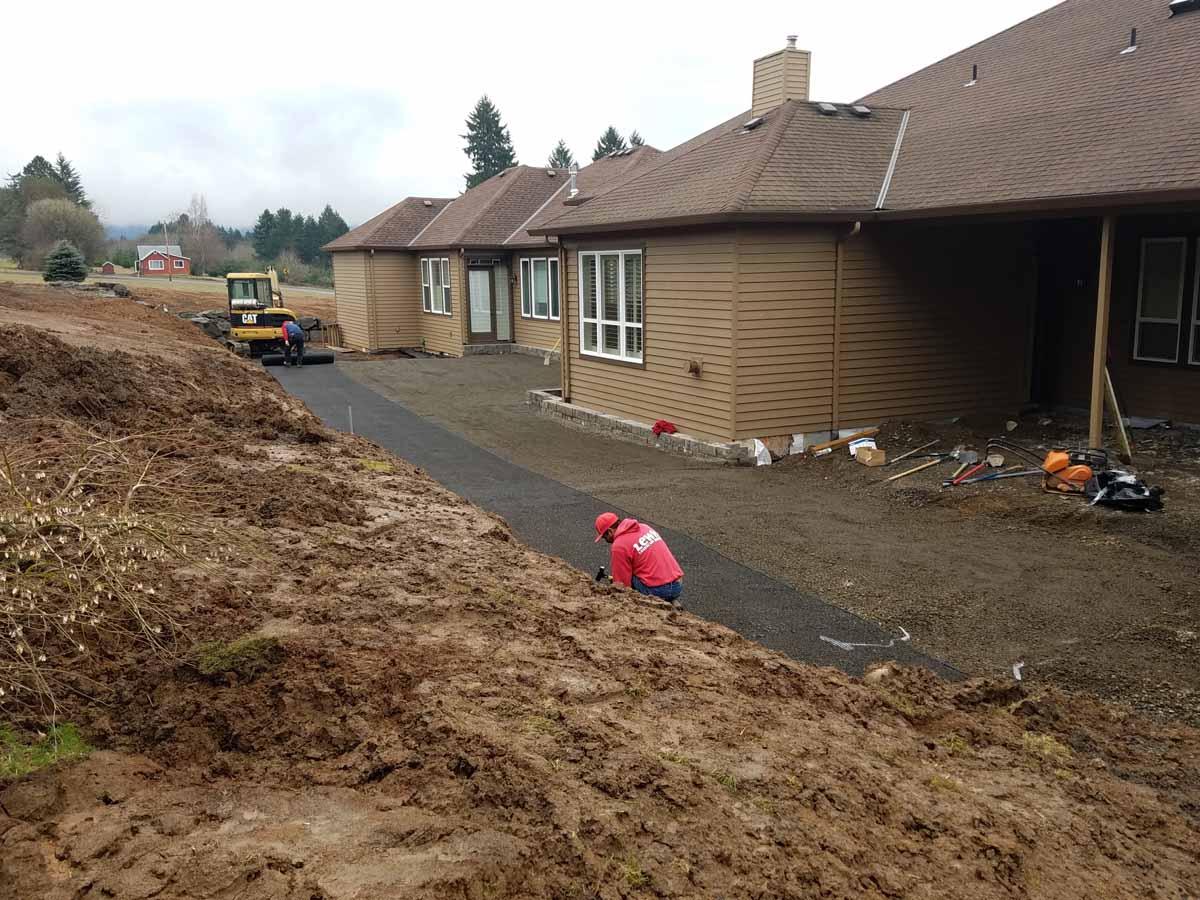 After Excavation, Preparing Patio Base