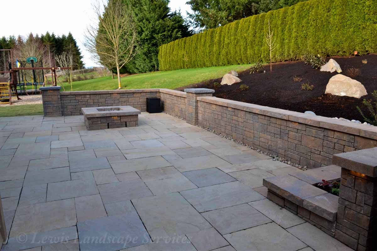 Wall & Fire Pit Area