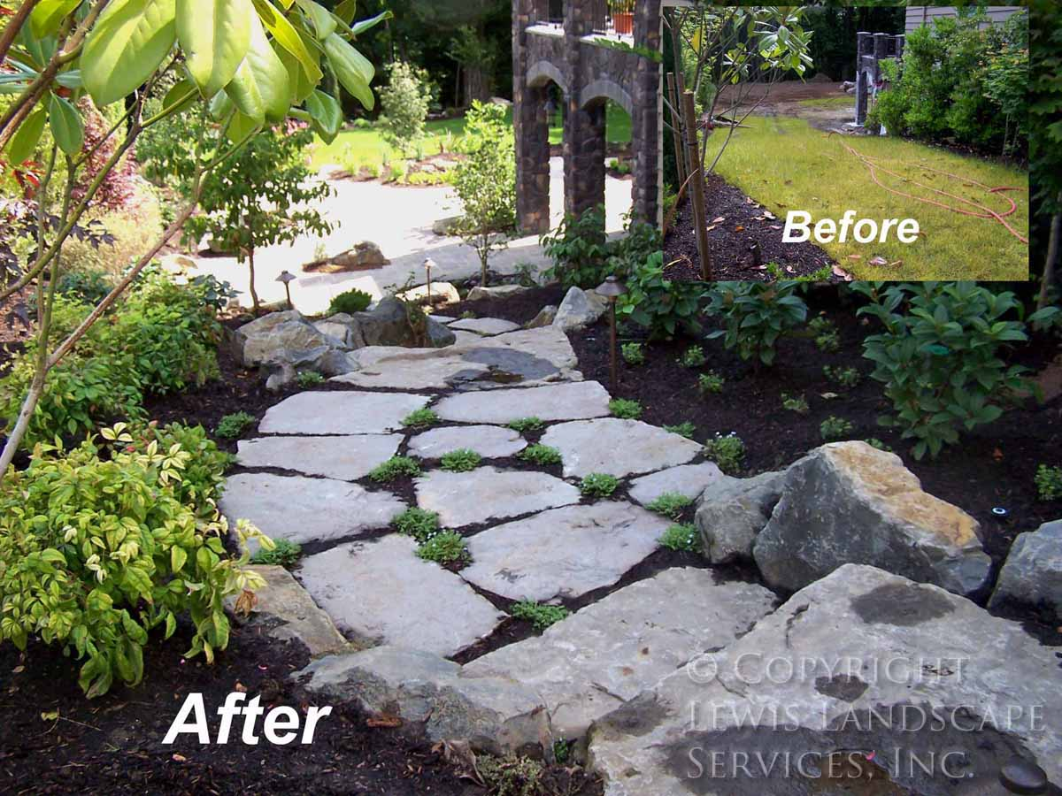 Before - After Stone Pathway