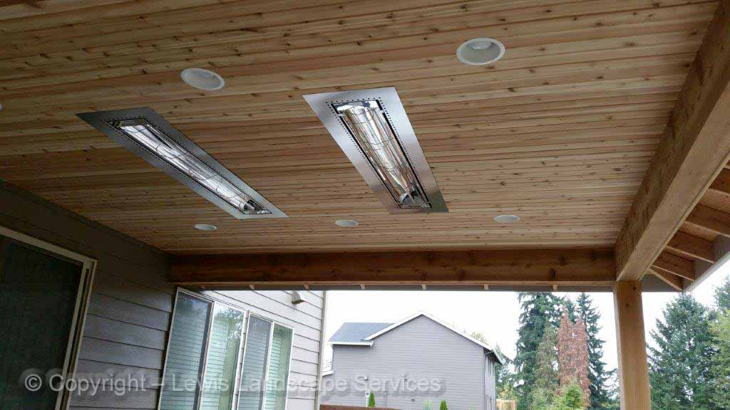 Built In Outdoor Heaters, Tongue & Groove Ceiling