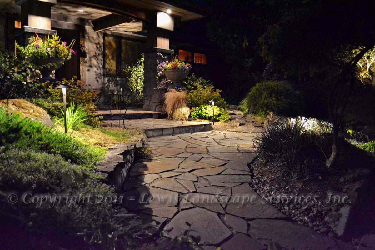 Structural Lighting & Pathway Lighting at a Job We Did in Lake Oswego Oregon