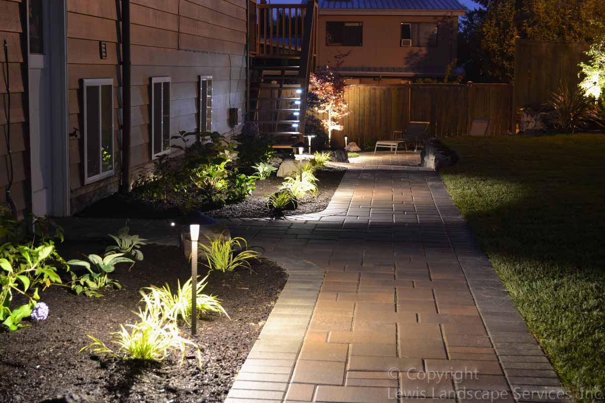 Pathway Lighting at a Project We did in Bethany Area, SW Portland