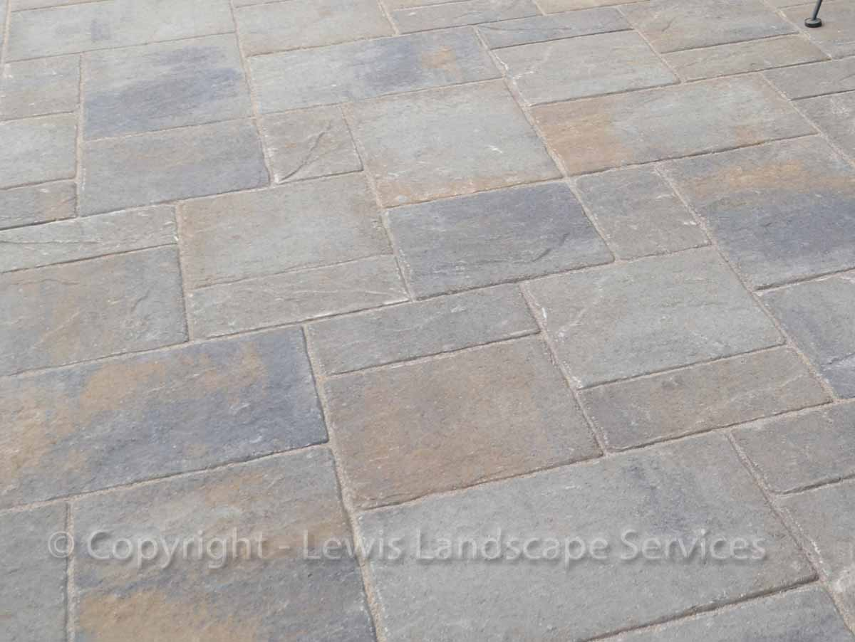 Closeup of Pavers in Patio