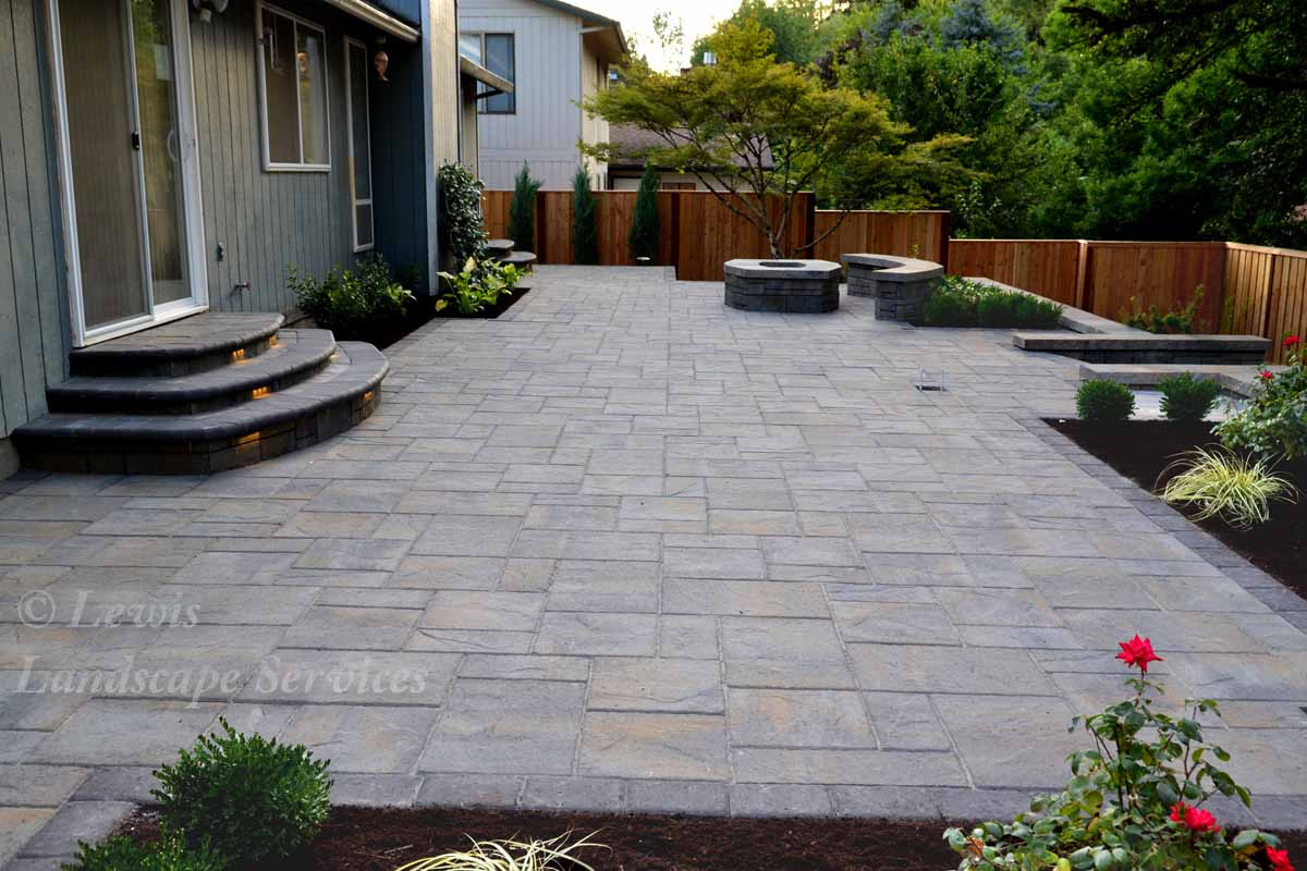 Paver Patio (Before Covered Structure)