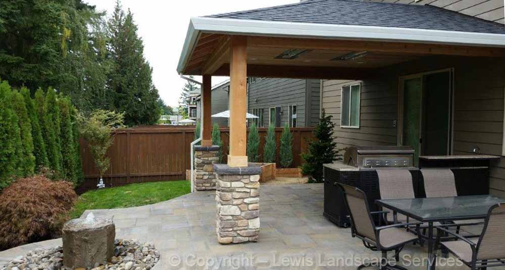 Covered Structure, Outdoor Kitchen & Heaters