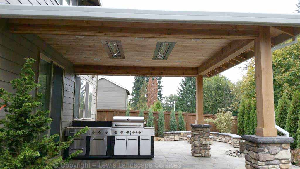 Covered Structure, Outdoor Kitchen & Heaters, Patio