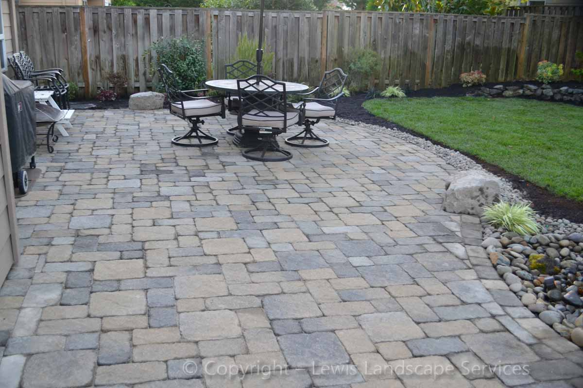 Paver Patio Before Covered Area Was Installed