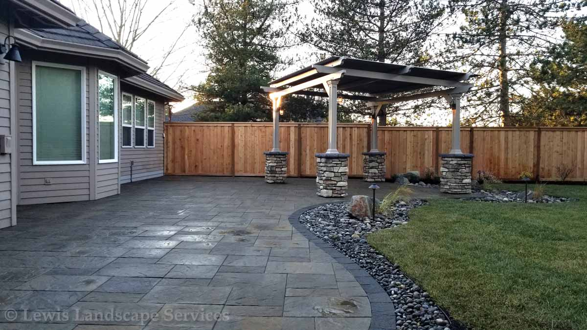 Paver Patio, Pergola w/ Electronic Closing Roof