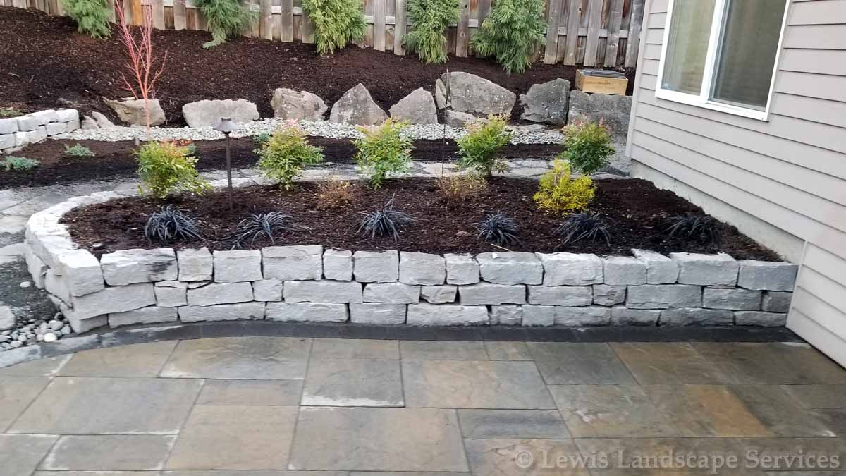Raised Beds made with Basalt Rock