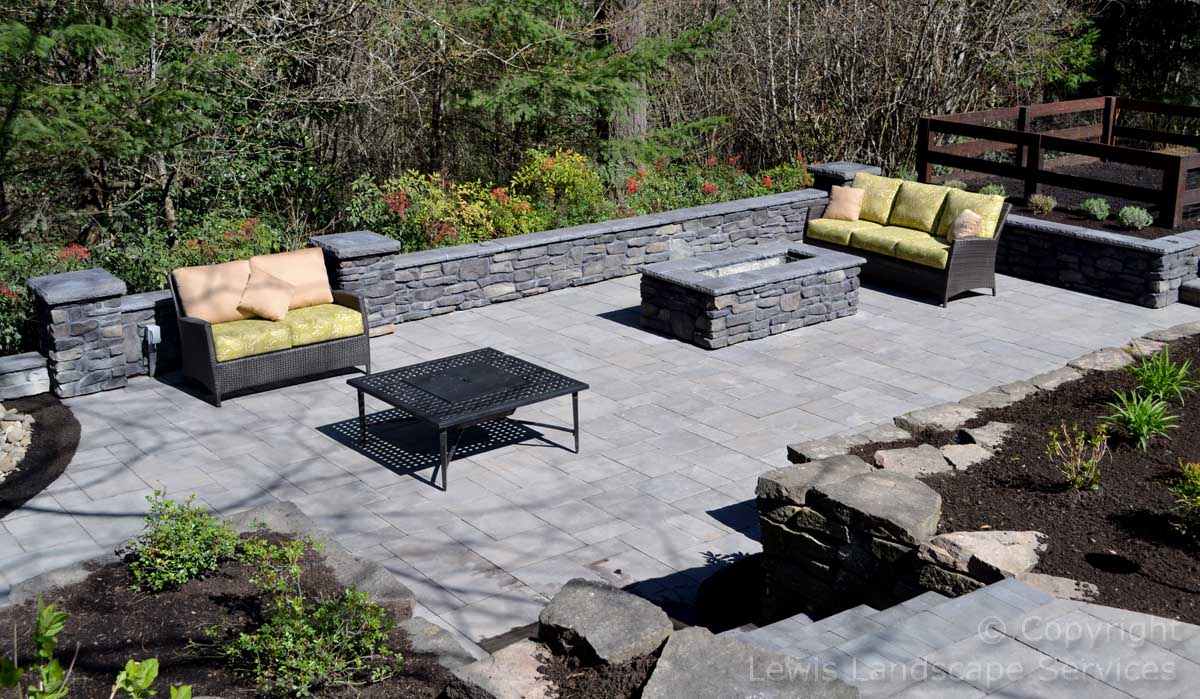 View of Outdoor Living Space from Above