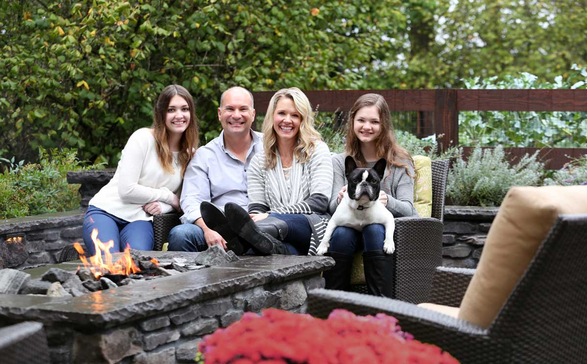 Our customer, the Brown Family - posing for Magazine Article