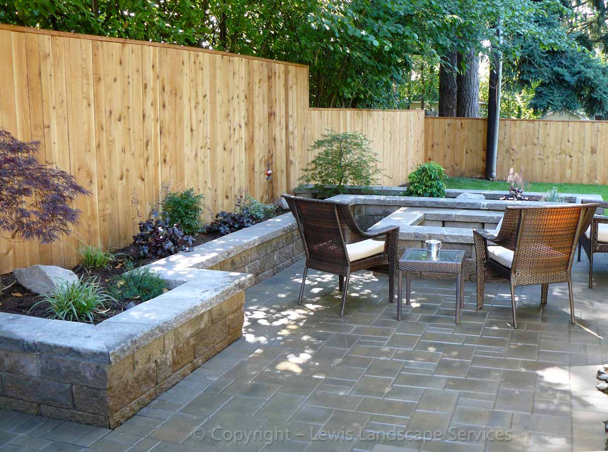 Paver Patio, Seat Walls, Fire Pit