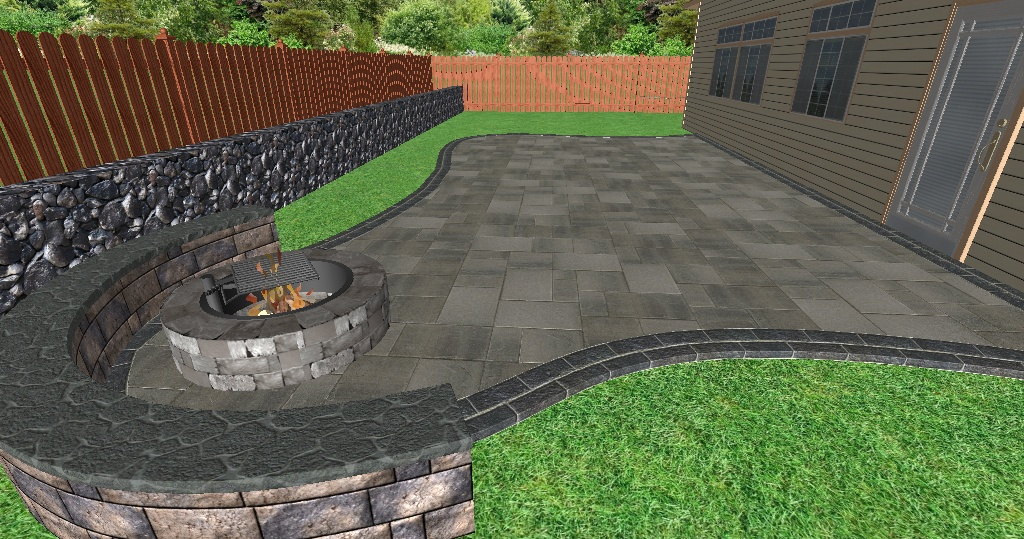 Patio Design - 3D Perspective View