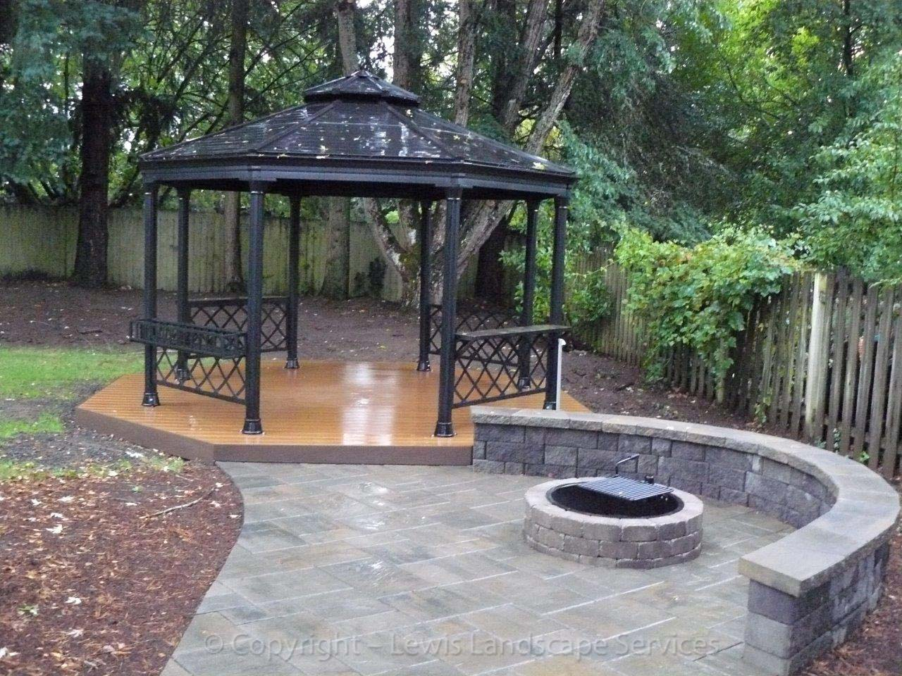 Outdoor-living-spPaver Patio, Pathway, Fire Pit, Seat Wall, Gazebo, Deckaces-paver-patios-driveways-pathways-green-project-summer-2013 002