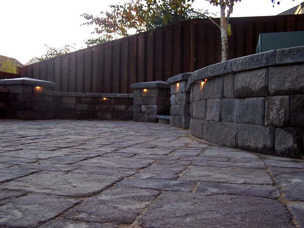 Paver Patio, Seat Walls, Columns