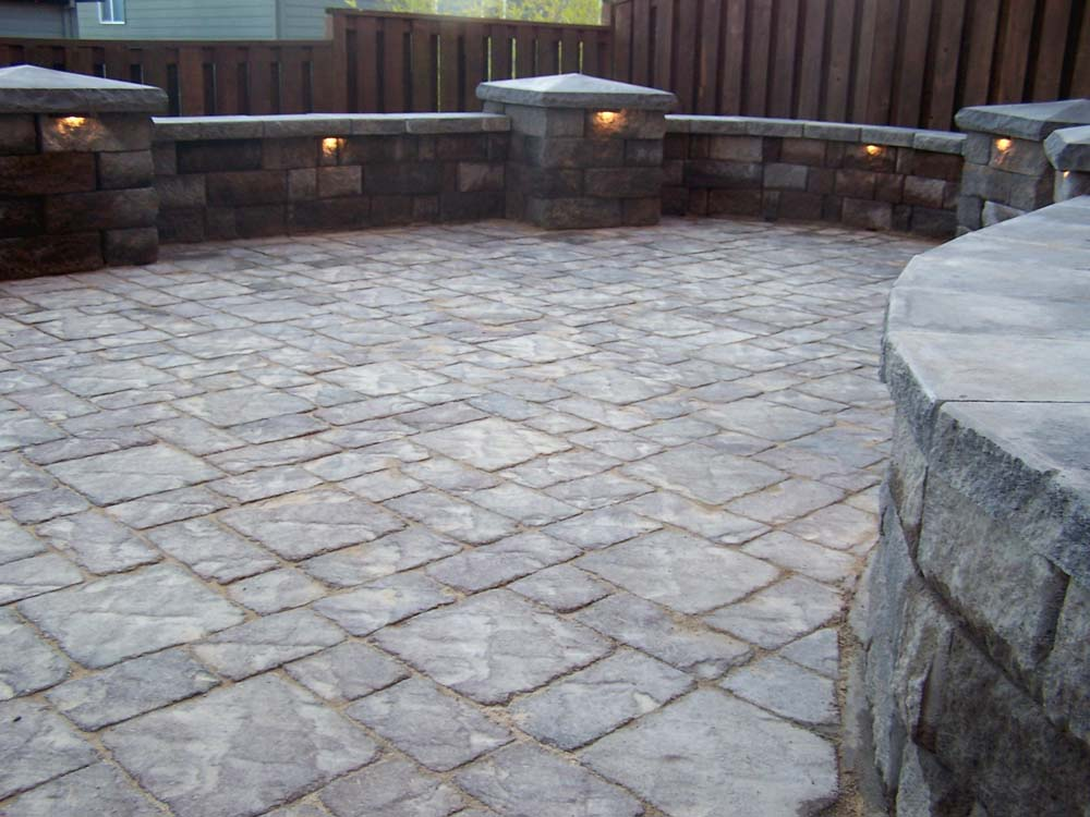 Paver Patio, Seat Walls, Columns