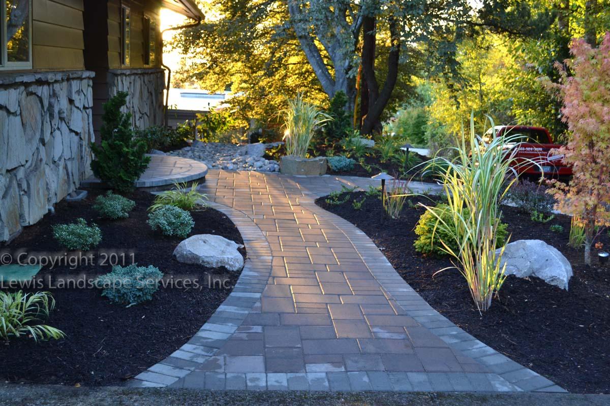 Paver Pathways & Landscape