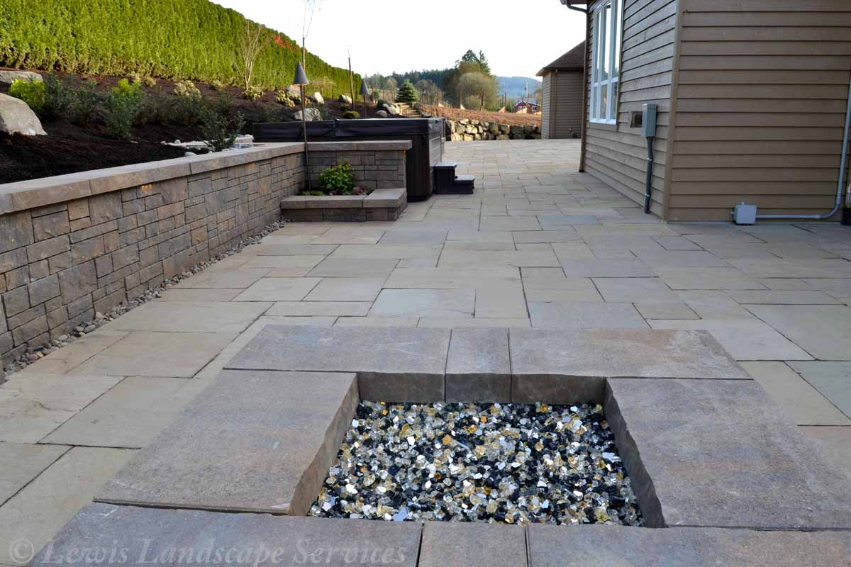 Fire Pit, Patio, Walls