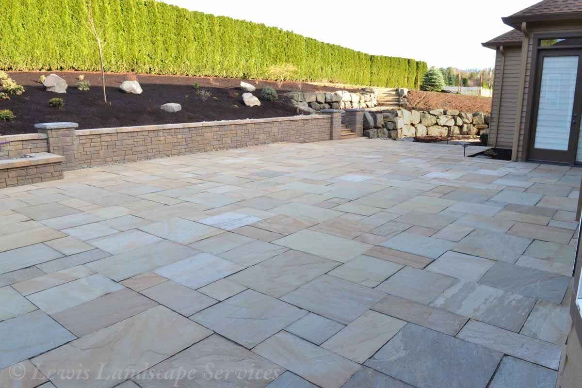 Stone Pavers Patio, Seat Wall/Retaining Wall