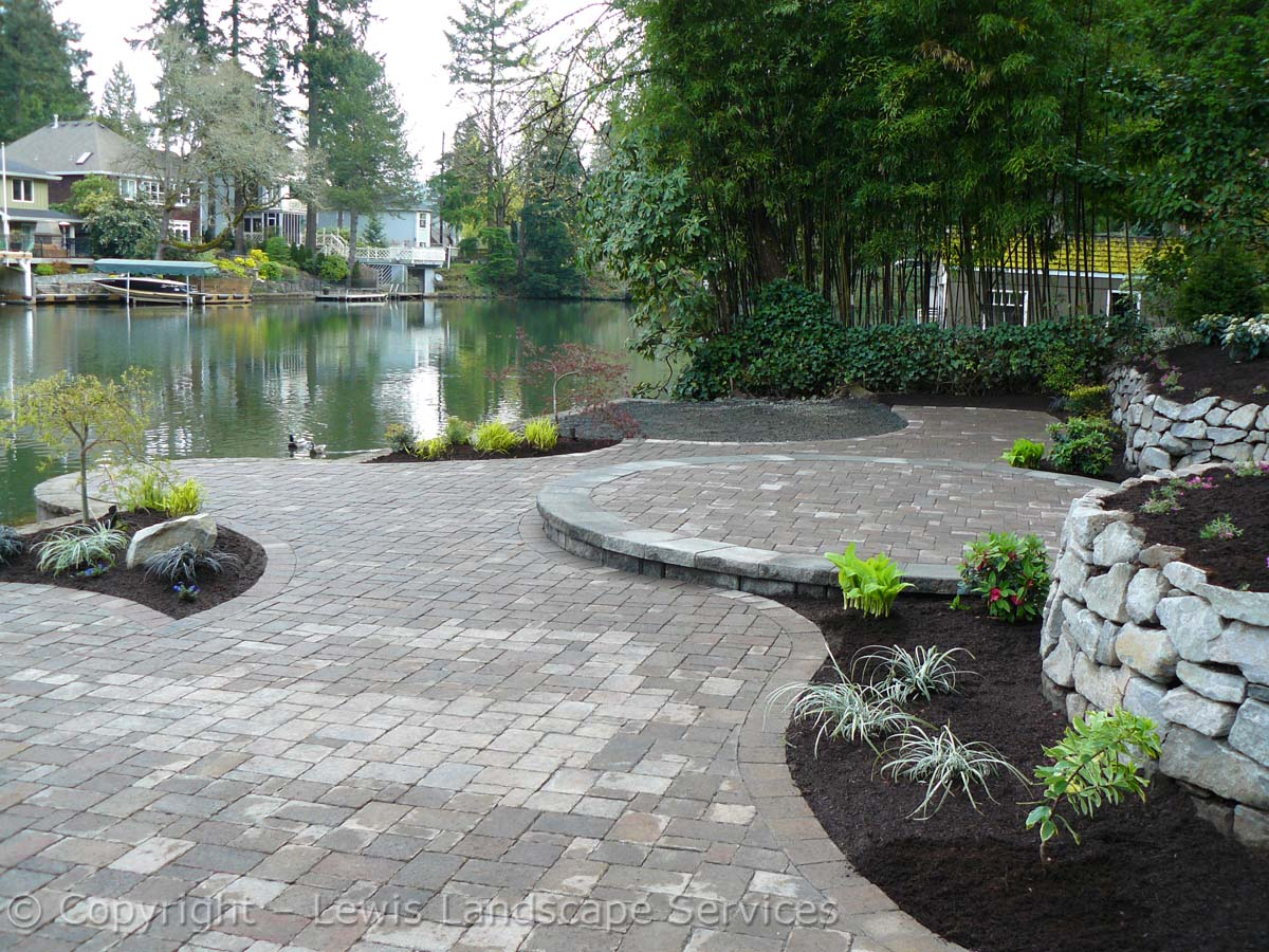 Paver Patio, Basalt Rock Walls, Landscaping