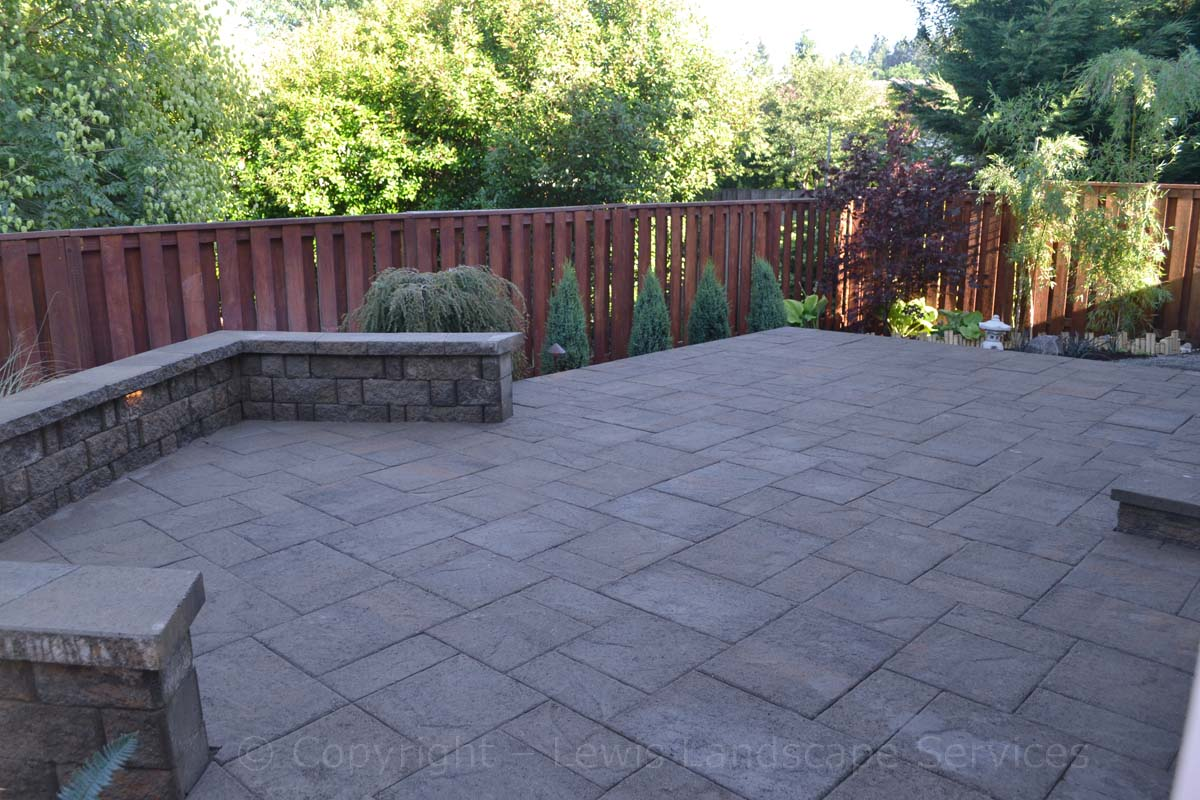 Raised Patio, Steps, Seating Wall, Landscaping