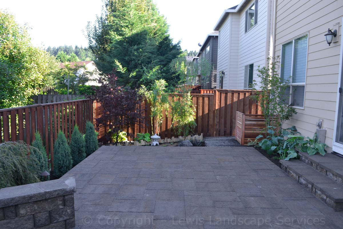 Raised Patio, Steps, Landscaping