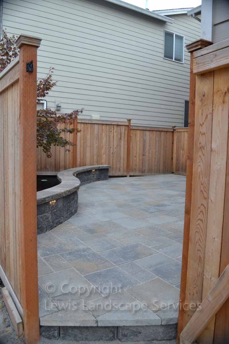 Back Paver Patio, View from Gate Entrance