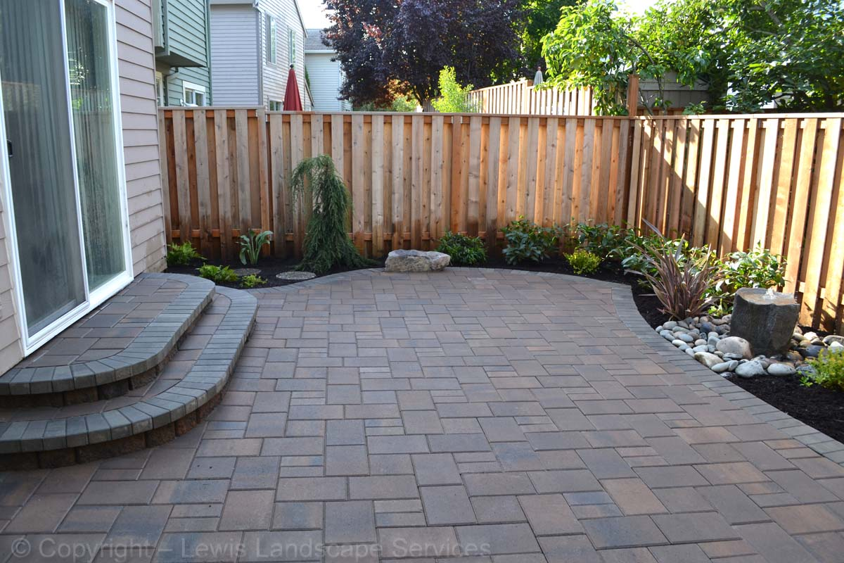 Paver Patio, Landing, Steps, Landscaping
