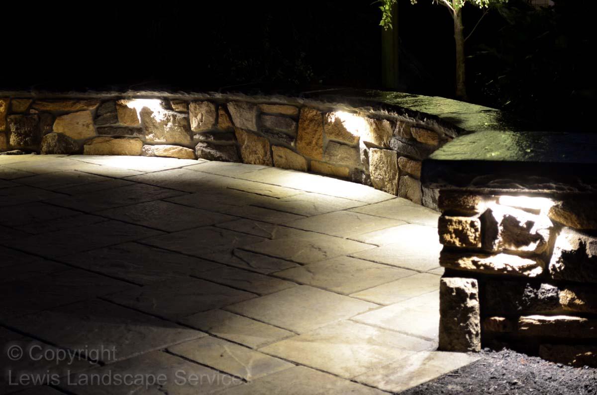 Patio & Wall At Night w/ Lighting