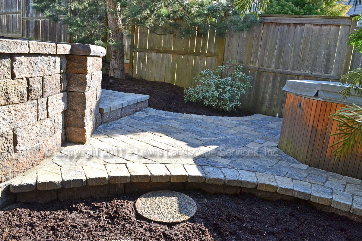 Lower Paver Patio by Hot Tub